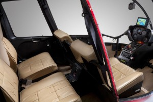 Robinson R44 charter helicopter aircraft interior