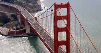 San Francisco Golden Gate Bridge Aerial View