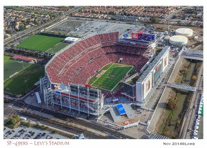 AT&T Stadium from helicopter